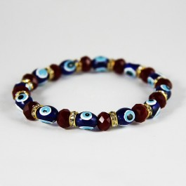 Evil Eye Beaded Crystal Bracelet (044)