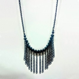 Black crystal necklace (226)