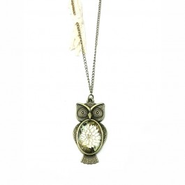Owl model antique pendant necklace (227)